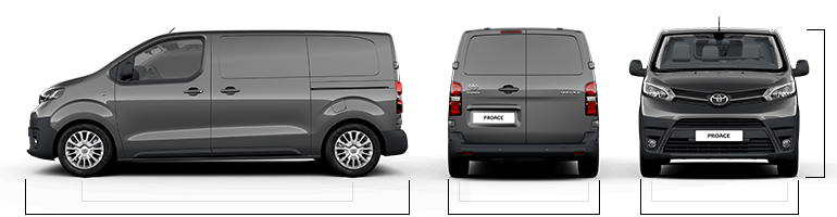 proace van models specifications dimensions toyota eu. Black Bedroom Furniture Sets. Home Design Ideas