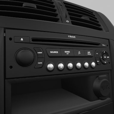 Radio and CD player with MP3 capabilities