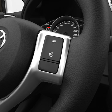 Telephone switch on steering wheel